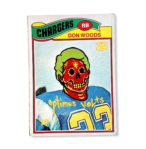 Don Woods Topps 1977 San Diego / Los Angeles chargers
