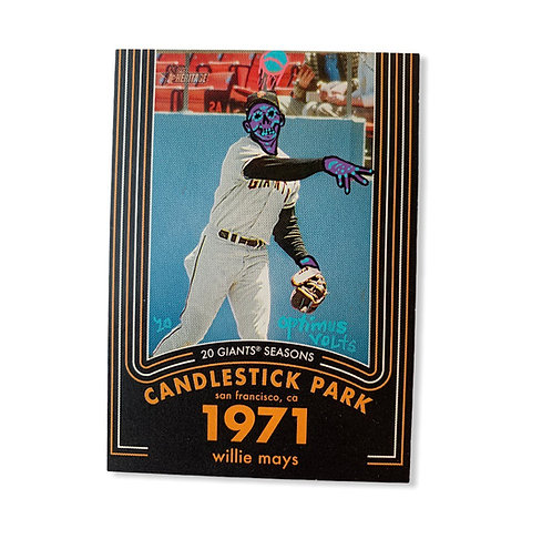 Willie Mays Topps 2020 heritage San Francisco Giants