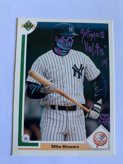Mike Blowers 1991 upper deck New York Yankees
