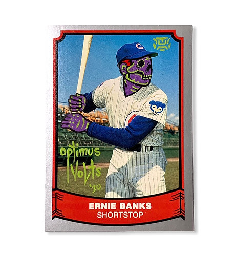 Ernie Banks Pacific trading card 1988 Chicago cubs