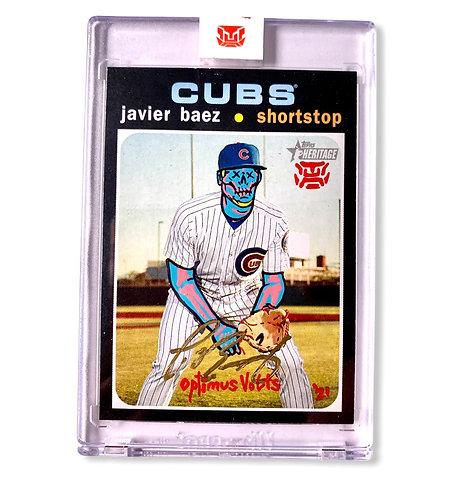 Javier Baez 1/1 Chicago cubs 2020 Topps heritage