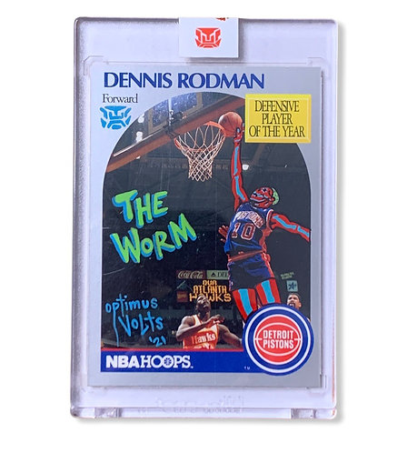 Dennis Rodman 1/1 Hoops 1990 the worm Detroit Pistons