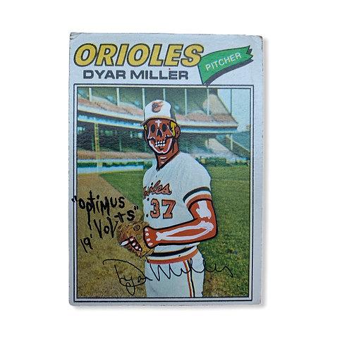Dyar Miller topps 1977 Baltimore orioles
