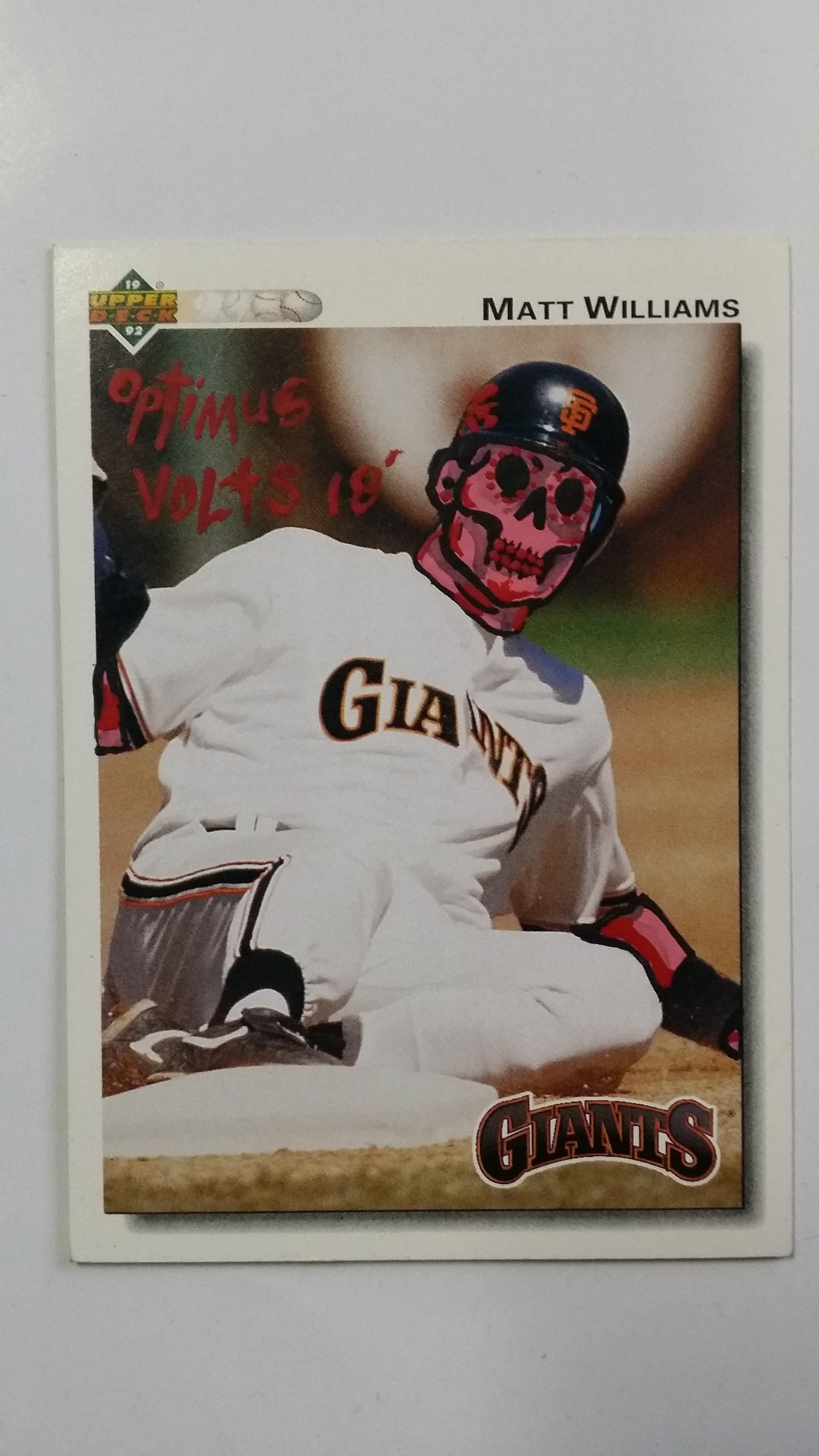Dia De Los Muertos Baseball Card Upper Deck Matt W
