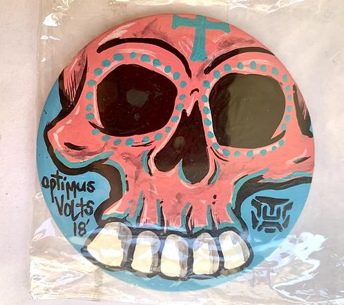 Skull Button pink
