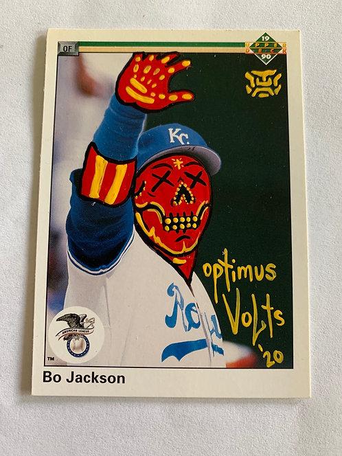 Bo Jackson 1990 upperdeck Kansas City Royals