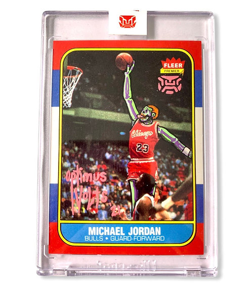 Michael Jordan 1/1 Fleer 1986-87 Re-print Chicago bull