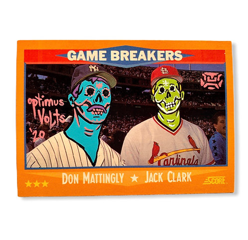 Don Mannelly & Jack Clark score 1988 New York Yankees and Cardinals