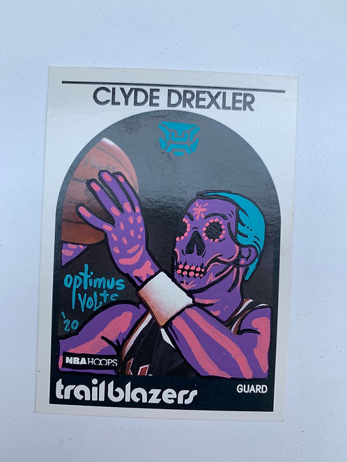 Clyde Drexler NBA hoops 1989 Portland trailblazers