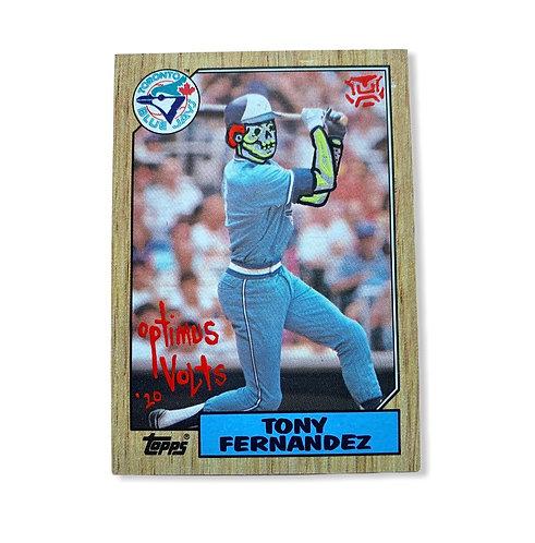 Tony Fernandez Topps 1987 Toronto Blue Jays