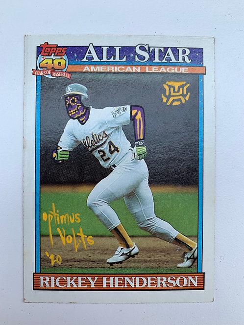 Rickey Henderson Topps 1991 Oakland Athletics