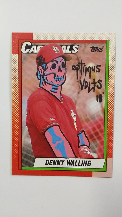 Topps 1990 Denny Walling St. Louis Cardinals