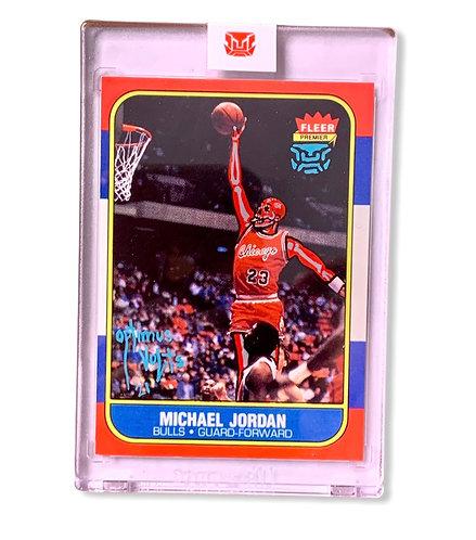 Michael Jordan 1/1 Fleer 1986-87 Re-print Chicago bulls
