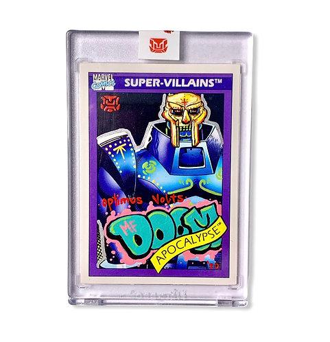 MF DOOM Super-villains APOCALYPSE Marvel comics 1990 card