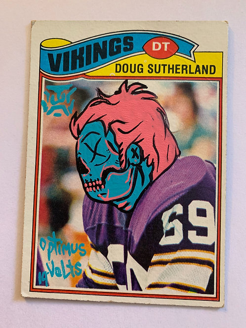 Doug Sutherland Topps 1977 Vikings Dia Delos Muertos football card