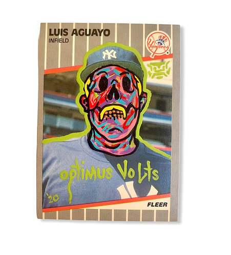 Luis Aguayo Fleer 1989 New York Yankees