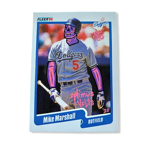 Mike Marshall Fleer 1990 Los Angeles Dodgers