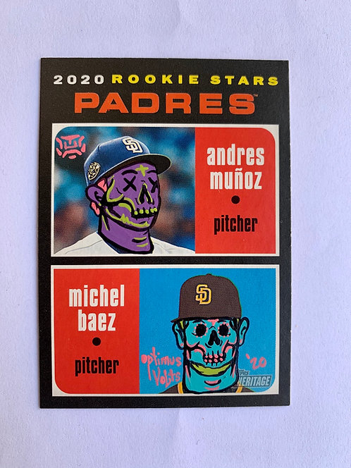 2020 rookies stars Padres Andres Munoz and Michel Baez Topps heritage 2020