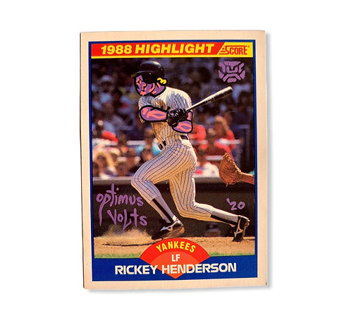 Ricky Henderson scores 1989 New York Yankees