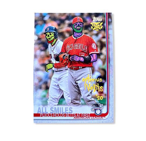 Mookie Betts & Albert Pujols Topps 2020 Angels Boston Red Sox