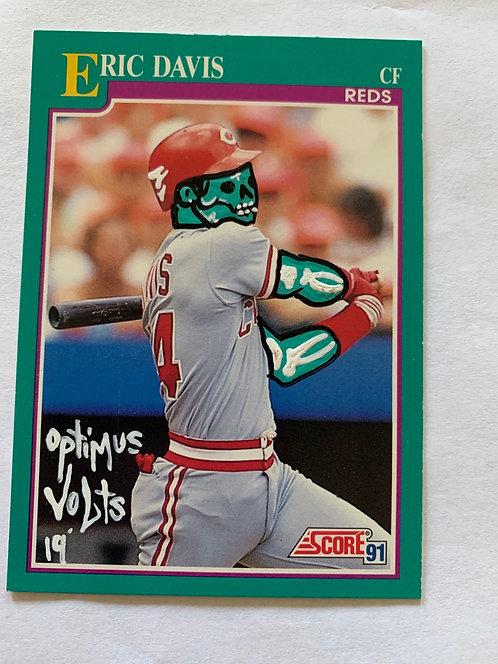 Eric Davis score 1991 Cincinnati Reds