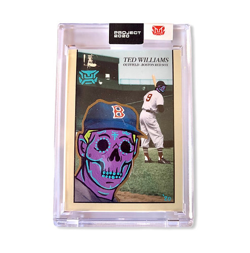 Ted Williams Topps Project 2020 Oldmanalan With metallic glow