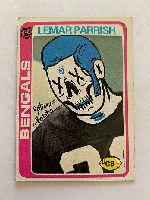 Lenard Parrish Dia Delos Muertos topps 1978 Bangles football card