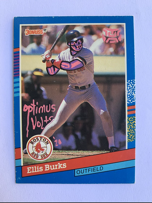 ELLIS Burks Don Russ 1991 Boston Red Sox
