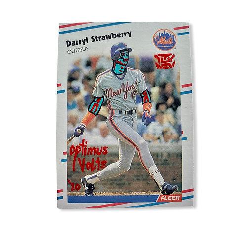 Darryl Strawberry Fleer 1988 New York Mets