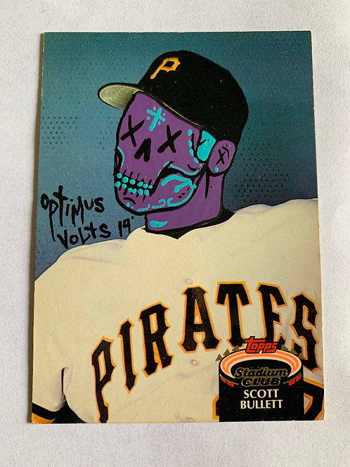 Scott bullett Topps stadium club 1992 Pittsburgh pirates