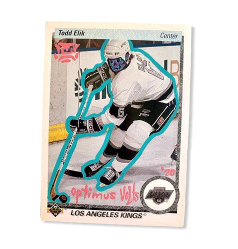 Todd Elik Upper deck 1991 Los Angeles kings