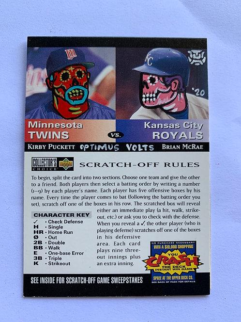 Kirby Puckett & Brian McRae Upper deck scratch off card Minnesota twins