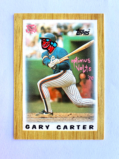 Gary Carter Topps 1987 mini New York Mets