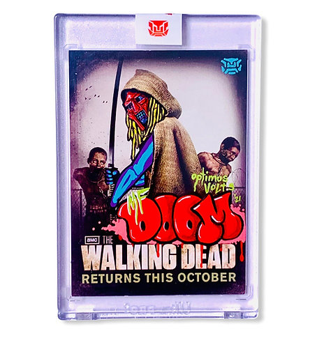 MF DOOM The walking dead Michonne promo card San Diego comic con