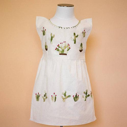 Little Girl's Handmade Cactus Dress