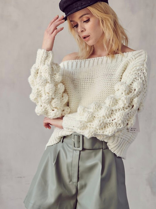 The Bubble Sleeve Sweater
