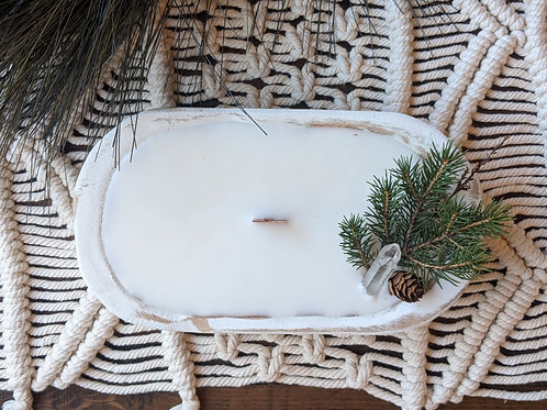 Soft Pine Candle Bowl