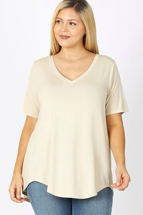 Simple as Taupe Tee