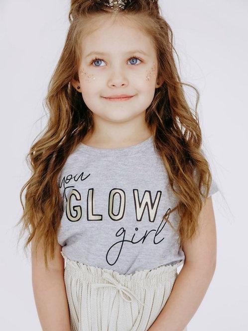 You GLOW girl! Little girls Tee
