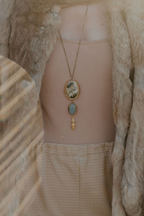 Handmade Necklace with Vintage Pendants