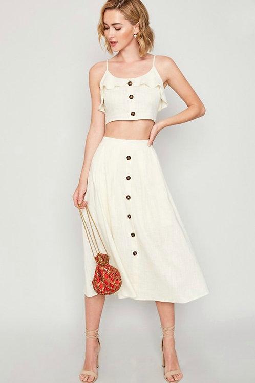 Buttercream Linen Skirt