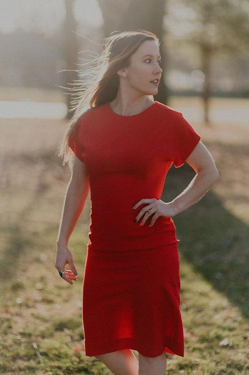 The Red Vintage Handmade Dress