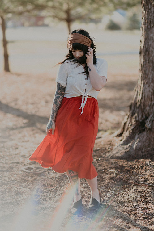 Vintage Red Day Skirt