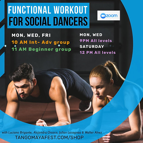 Monthly Functional Workout for social dancers. 30% OFF for first timers