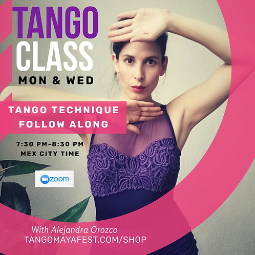 9hrs Tango Technique Monday & Wednesday