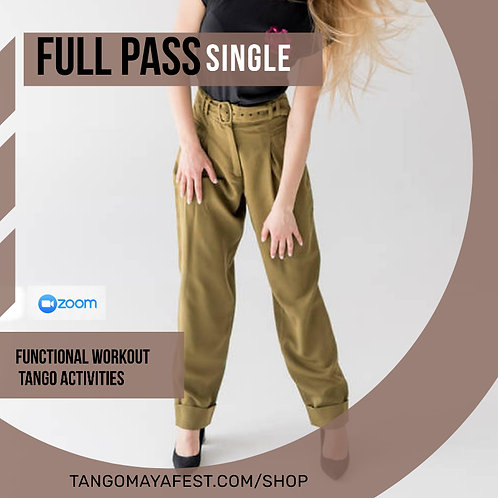 Full pass for solo dancers. TANGO+ FUNCTIONAL
