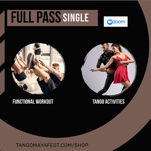 Full pass for solo dancers. TANGO+ FUNCTIONAL/ FREE PRIVATE CLASS