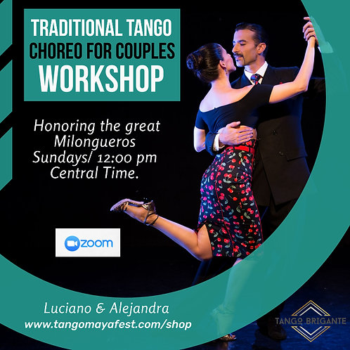 4hrs  Traditional Tango Choreography workshop for couples