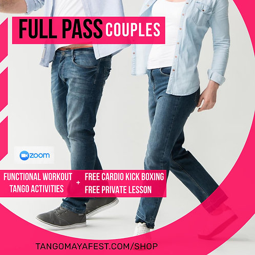 Full Pass for couples TANGO+ FUNCTIONAL+FREE  KICK BOXING & FREE PRIVATE LESSON