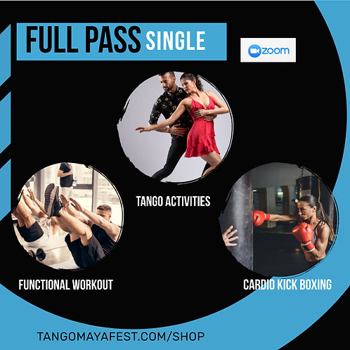 Full pass for solo dancers. TANGO+ FUNCTIONAL+CARDIO
